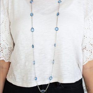 Glassy Glamorous blue necklace